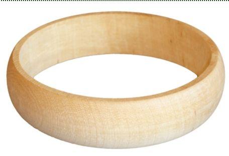 Dřevěný náramek zaoblený 3 cm