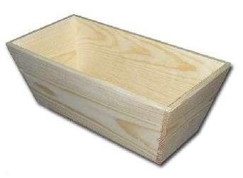MASIV - Dřevěný truhlík VELKÝ okraj 345 x 170 mm
