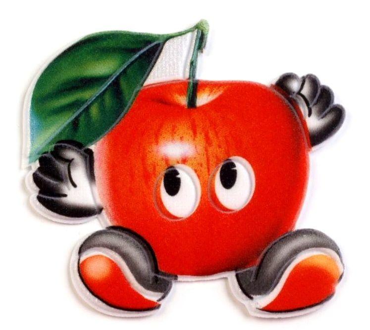 Nažehlovačka OVOCE cca 5x8cm - 1ks - červené jablko