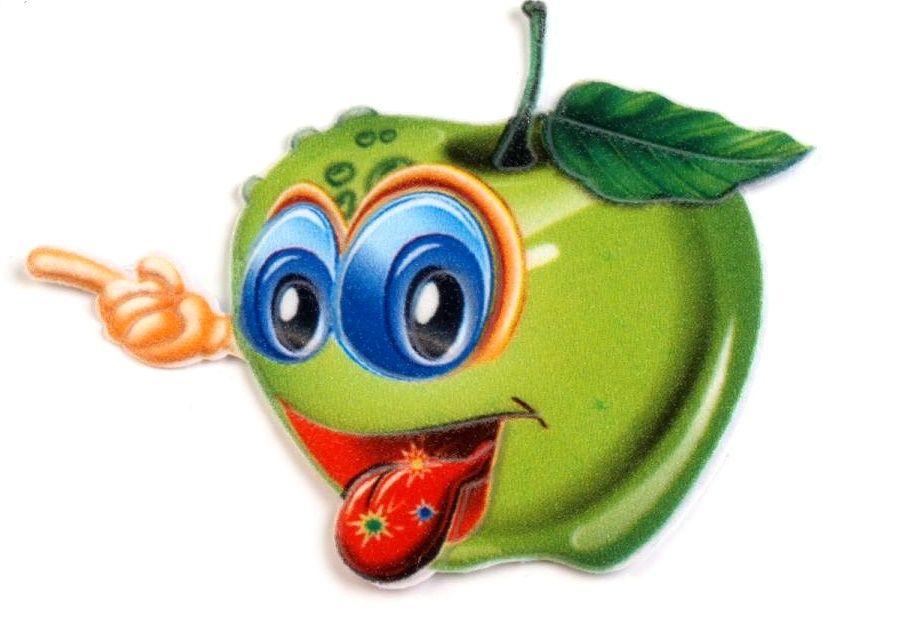 Nažehlovačka OVOCE cca 5x8cm - 1ks - zelené jablko