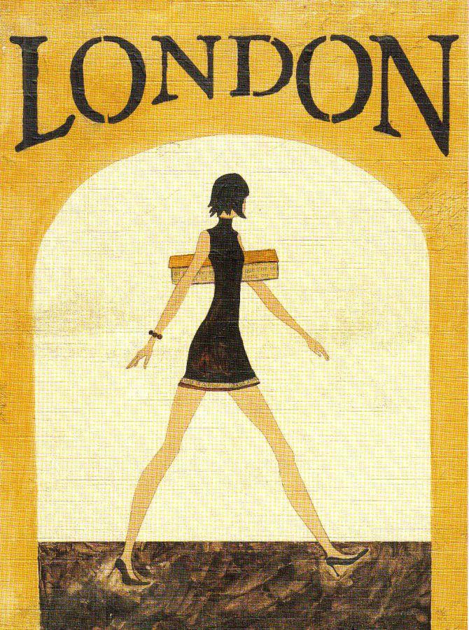 Kreativní papír Reprodukce LONDON 18x24cm