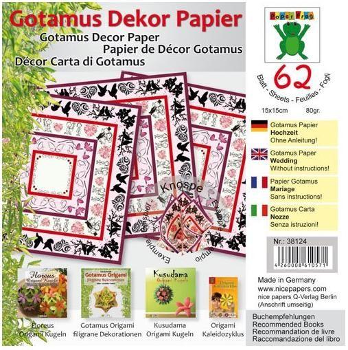 Origami GOTAMUS červené 15 x 15 cm 80gm/2 - 62ks Folia