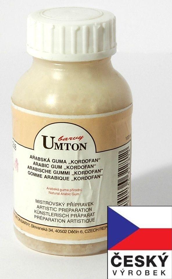 Arabská guma KORDOFAN UMTON 100ml pro akvarelové a temperové barvy