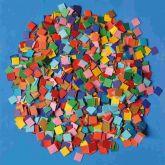 Mozaika čtverečky papír MATNÁ 10x10mm - 10 000 ks