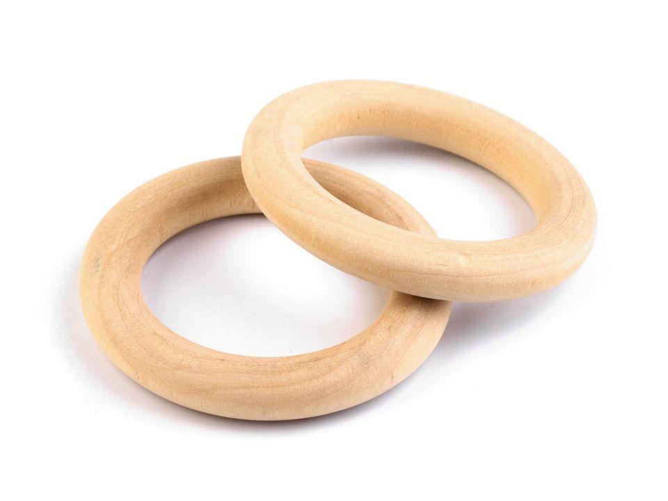 Dřevěný kroužek 25 mm - 1 ks