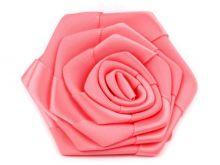 Saténová růže Ø 70 mm - 1ks
