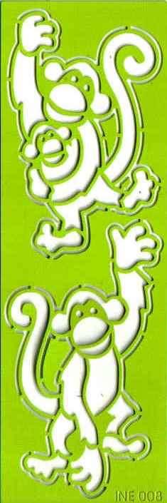 Šablona vyřezávací Opičky 12x4 cm