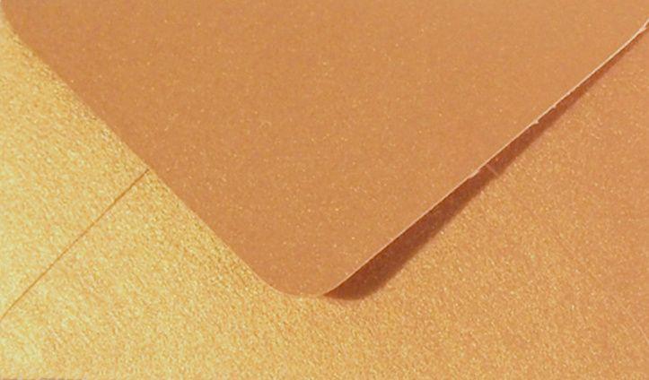 Papírová Barevná Obálka C6 Antik Zlatá Metalická