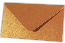 Papírová obálka C6 MĚDĚNÁ metalická