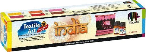 Textile Art na tmavý textil India 6 x 20 ml