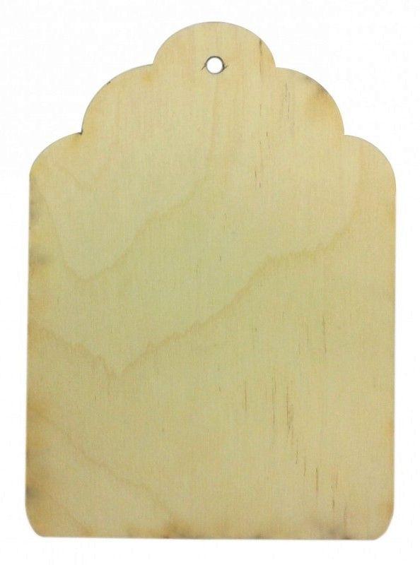 Dřevěný závěs VIZITKA 12,5 x 9cm 1ks