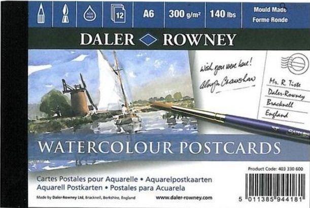 Akvarelový blok POSTCARDS texture 300g/m2 A6 - 12 listů Daler Rowney