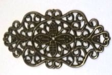 Dekorace filigránová ORNAMENT ovál 4,4 x 2,3 cm - 1ks