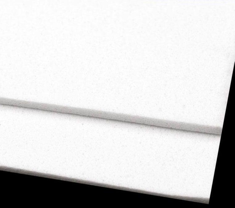 Pěnovka moosgummi - bílá 1 ks 20x29 cm
