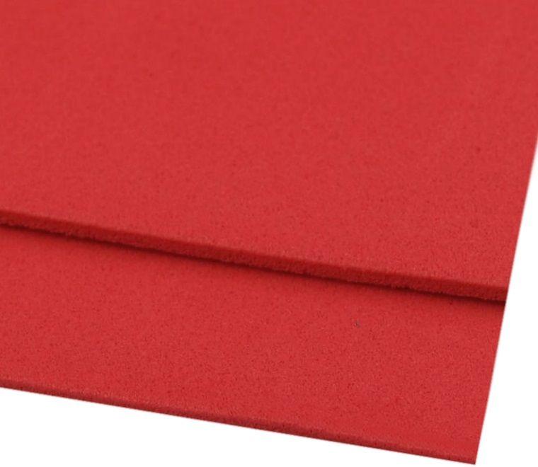 Pěnovka moosgummi červená 20x29 cm - 1 ks