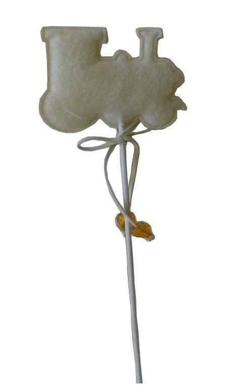 Dekorace zápich filc cca 30cm - 1ks