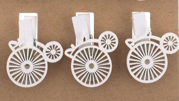 Dekorace na kolíčeku Bicykl - 1ks