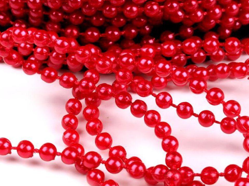 Perličky na šňůrce 4mm - 1m