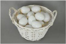 AKČNÍ CENA: Dekorace Plastová vejce bílá 4cm - 24ks