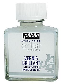 Lesklý lak na akrylové barvy PEBEO 75 ml