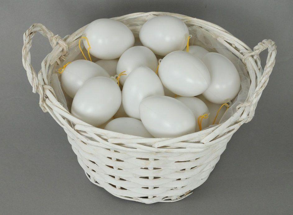 Vejce plastové bílé ke zdobení 6cm - 1 ks