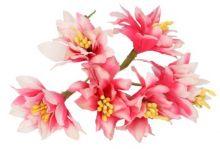 Dekorace květ na drátku cca 12 cm - 6 květů