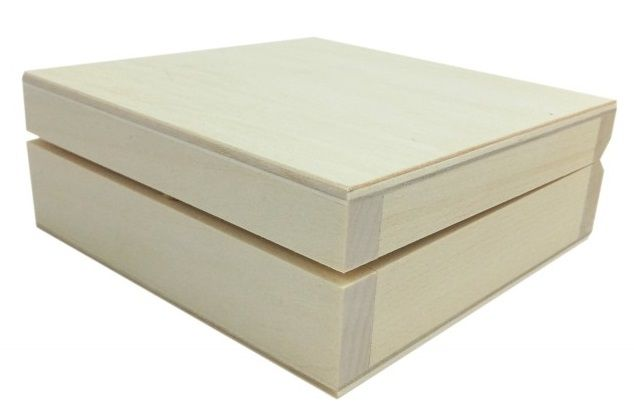 Dřevěná krabička ČTVEREC 140 x 140 x 45mm