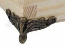Ozdobné kování na krabičky Nožička antik bronz 30x35mm - 1ks
