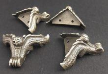 Ozdobné kování na krabičky Nožička antik bronz 38mm - 1ks