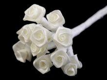 Růžičky na drátku saténové 12ks