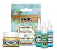 Sada barev Patinový Efekt Pentart 4x20ml pro výrobu antického měděného povrchu