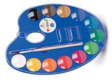 Vodové barvy PRIMO + paleta + štětec - 12 barev