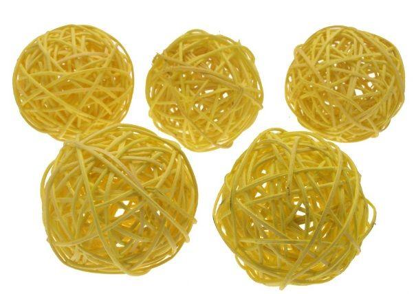Dekorace pedig KOULE žlutá 7cm - 1ks