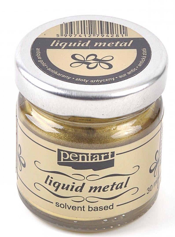 Tekutý kov ZLATÝ ANTIK 30ml PentArt