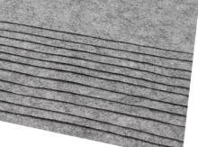 Plsť 20x30cm 0,9mm gramáž 180g/m2 - 1ks