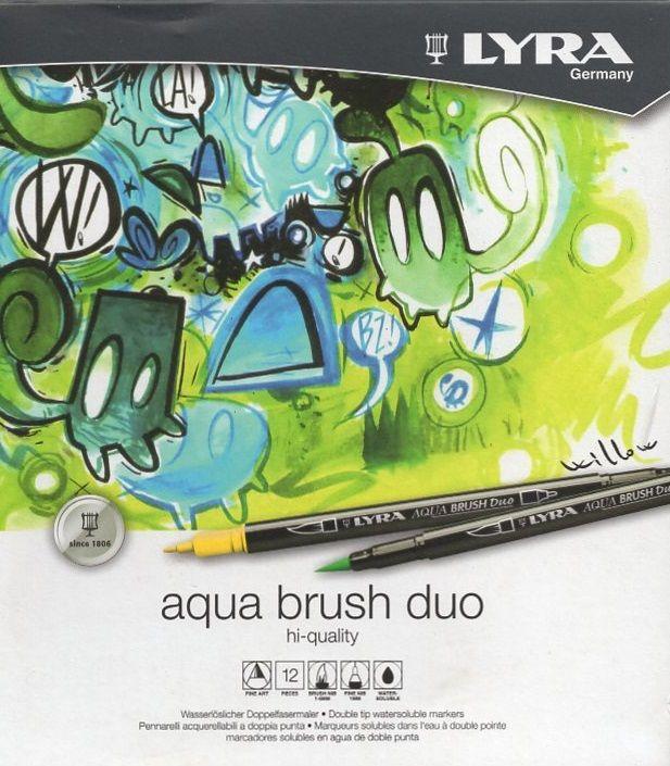 Umělecké fixy LYRA Aqua Brush Duo - 12 ks