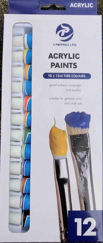 Sada akrylových barev 12 x 12ml