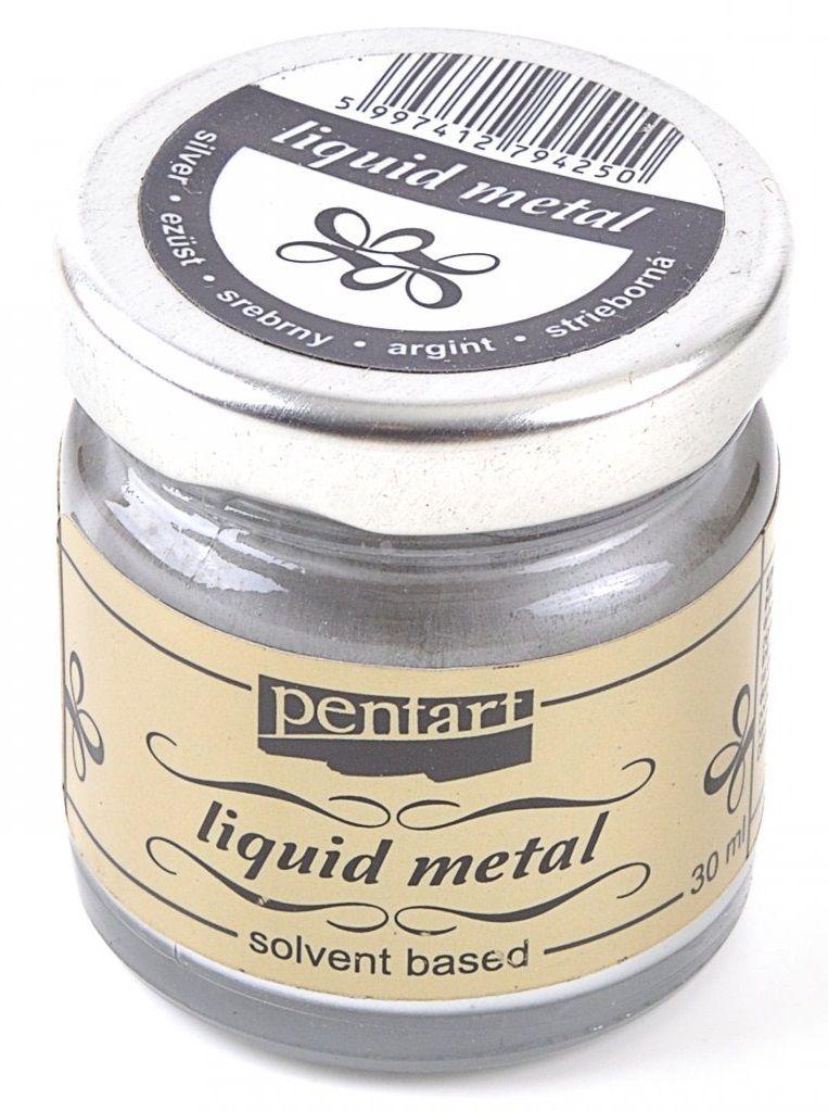Tekutý kov STŘÍBRNÝ 30ml PentArt