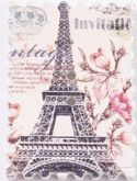 Dřevěný dekorační knoflík Paříž - 1ks