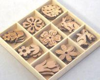 Dekorace dřevo OZDŮBKY nix cca 2,5-3cm - 27ks