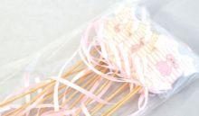 Dekorace dřevo BABY DUPAČKY zápich  růžový - 1ks