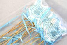 Dekorace dřevo BABY DUPAČKY zápich  modré - 1ks