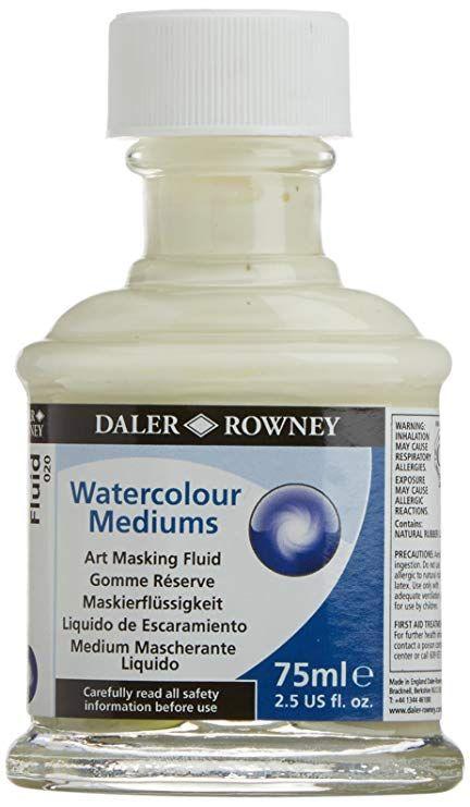 Maskovací kapalina 75ml Daler Rowney pro akvarelové a temperové barvy