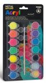 Sada akrylové barvy METAL FLUO 14x4,5ml