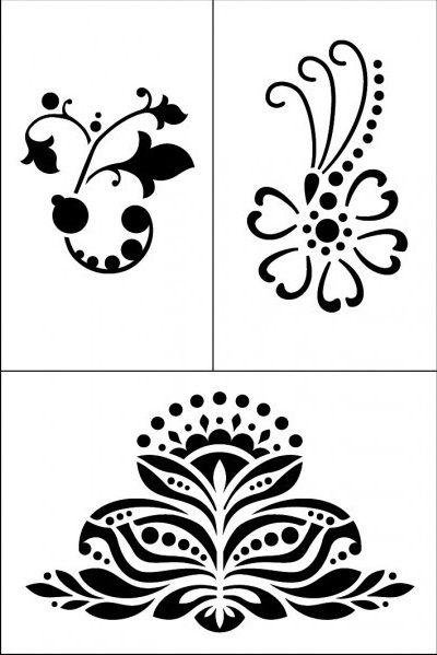 Samolepicí flexibilní šablona 18 x 12cm