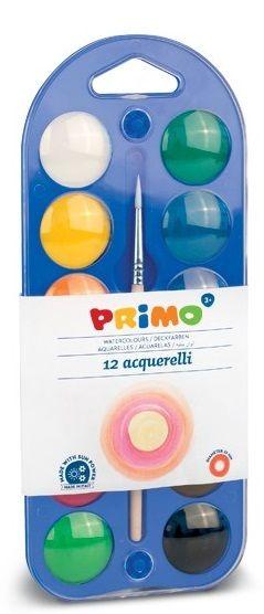 Vodové barvy PRIMO + paleta + štětec - 12 barev Morocolor