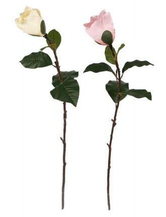 Dekorace květina umělá MAGNOLIE 85cm - 1ks