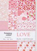 Kreativní papíry LOVE 80g/m2 A4 - 15listů