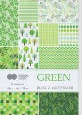 Kreativní papíry GREEN 80g/m2 A4 zelený - 15listů
