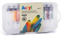 Sada akrylové barvy Primo 10x18ml